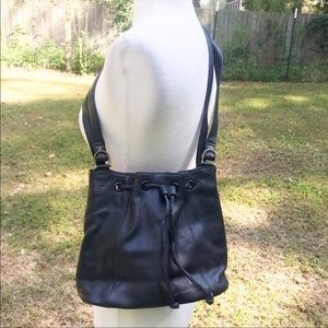 Etienne Aigner Black Leather Small Bucket Bag